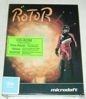 Rotor IBM PC 486 MS DOS Vintage Game NIB VGA CD ROM 386