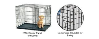 Midwest Pets Life Stages Fold Carry Double Door Dog Crate