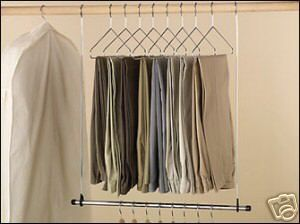 ... New Double Closet Rod Chrome Hanging Extender Bar ...