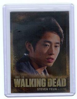 Walking Dead season 2 CB05 Character Bio insert card Steven Yeun Glenn