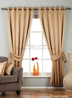 Taupe Ring Grommet Top 90 Blackout Curtain Drape Panel with Matching