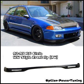 Civic WW Style Front Bumper Lip Spoiler Kit PU 2DRS EG JDM New