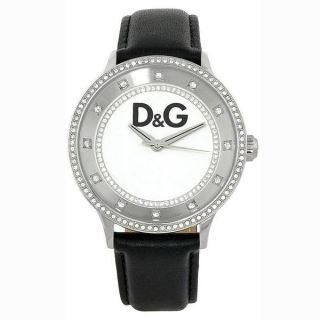 Dolce and Gabbana DW0515 Primetime Womens Black Leather Watch