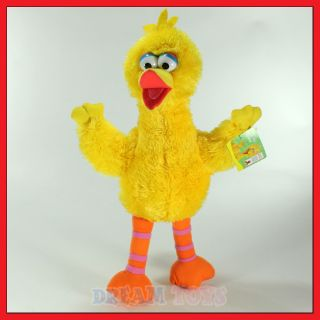 Sesame Street Muppets Big Bird 9.5 Fuzzy Plush Doll   Stuffed Figure