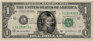 Paris Hilton Dollar Bill Real USD Celebrity Novelty Collectible Money
