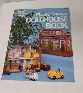 Plastic Canvas Dollhouse Book Appliances Dolls Furniture Cars