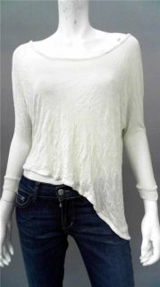 One by Dylan Alexa Junior M Comfort Knit Top Ivory Solid 3 4 Sleeve