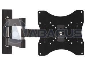 Tilt & Swivel Arm Wall Mount for LED LCD TV/Monitor (Black)