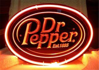 SB136 Dr Pepper Soda Drink Display Neon Light Sign