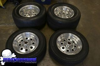 15 Weld Draglite Drag Racing Wheel Tire Set Nitto Extreme Drag Radial