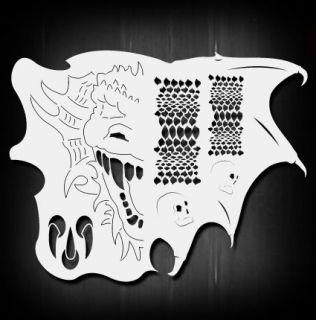 Dragon Master Airbrush Stencil Template Airsick