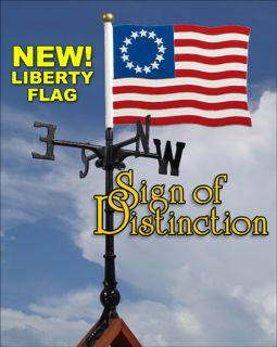 American Liberty Flag Weathervane Ships in 1 Day Weather Vane