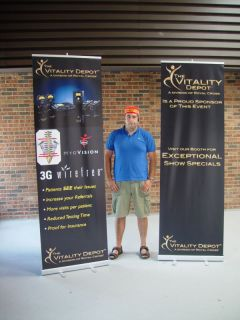 96 Tall Retractable Rollup Trade Show Banner Stand Graphic Display