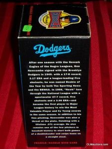 Don Newcombe Bobblehead Los Angeles Dodgers Baseball SGA 1956 CY Young