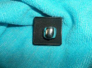 Technibond high polish bold asymmetrical band ring size 5 white