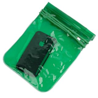 UnderWater Beach Mobile Phone  Camera Case carry Dry Bag green