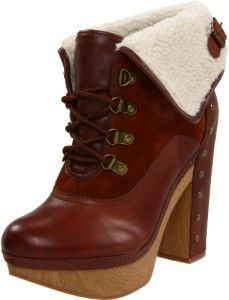 Womens Shoes Lucky Brand Tanner Clog Platform Boots Lace Up Ankle
