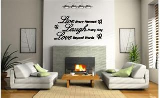 Decorative Vinyl Wall Art Quote Live Laugh Love Decal Stickers Mural
