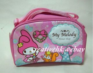 Sanrio My Melody Pink Shoulder Tote Bag w Zipper New