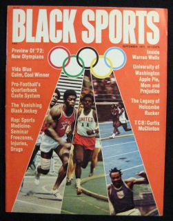 Black Sports Magazine September 1971 RARE Issue