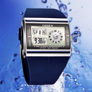 New OHSEN Sports Dual Time Zone Lady Digital Date Watch