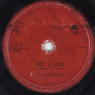 Hear Doo Wop 78 THE MIRACLES Got A Job b/w My Mama Done Told Me END