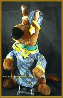 Scooby Doo 21 Plush Dog Night Shirt Moon Stars Slipper Nightshirt