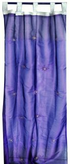 PURPLE 2 WINDOW / DOOR STUNNING ORGANZA SHEER CURTAINS PANELS 92