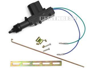 Universal Power Door Lock Actuator Motor 2 Wire 12 Volt with Fittings