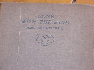 Gone with The Wind Margaret Mitchell 1936 Book Macmillan Co Great