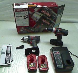 CRAFTSMAN 19.2 VOLT DRILL DRIVER 11551 IMPACT DRIVER 11483