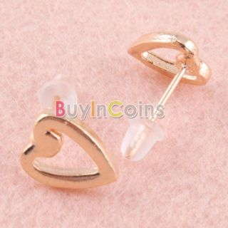 Fashion Trendy Cute Heart Design Love Queen Ear Pin Stud Earrings