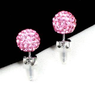 Crystal Rhinestone Bling New Stone Ball Women Fashion Earrings