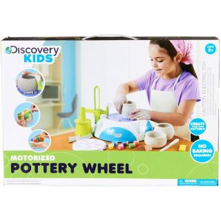 NEW Discovery Kids MOTORIZED POTTERY WHEEL craft kit with 2 lbs. clay