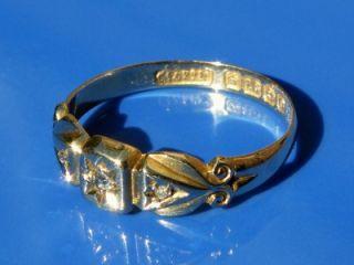 Antique Edwardian 18ct Gold Diamond Trilogy Ring 1913