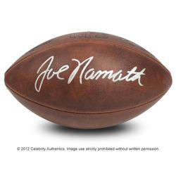 NAMATH NEW YORK JETS AUTOGRAPHED DUKE ANTIQUE LEATHER GAME FOOTBALL