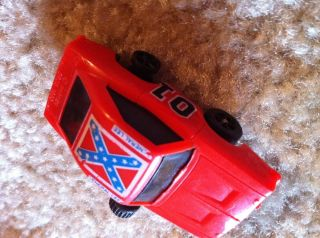 vintage 1980 Dukes of Hazzard small wind up toy car General Lee NON