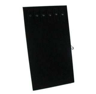 necklace display stand black velvet pad w easel and 6 black velvet