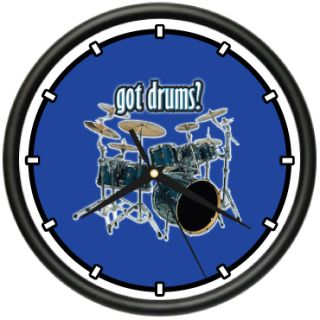 drums wall clock new drum drummer band music gift price