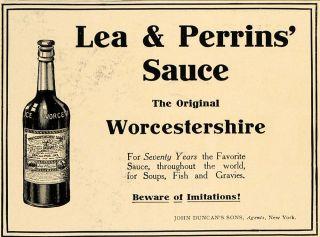 Condiment Lea Perrins Bengal Worcestershire Sauce Bottle John Duncan