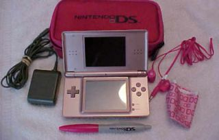 Limited Edition DS Lite Pink Paw Print Bundled with Starter Kit