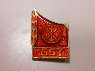 East German DDR GST Army Badge Pin Back