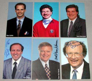 Lot of 6 Montreal Expos Signed MLB Baseball Postcards