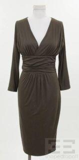 dsquared2 brown jersey knit v neck dress size medium
