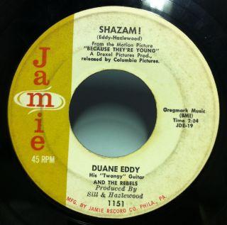 Duane Eddy The Secret Seven Shazam 7 VG Jamie 1151 Vinyl Mono 45