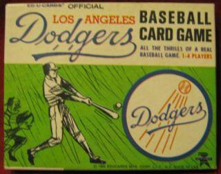 Ed U Cards LOS ANGELES DODGERS Baseball Game 1964
