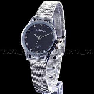 Unique Stainless Steel Mans Womens Lover Couple Quartz Wrist Watch