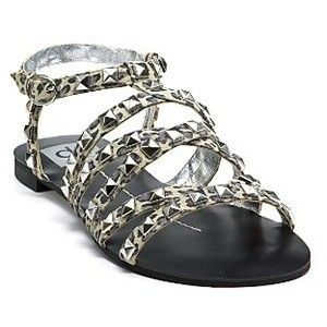 Dolce Vita DV Oscar Summer Sandals Flats Shoes Camo Chic Designer Sz 6
