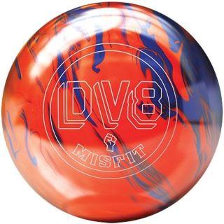 DV8 Misfit Orange Blue Bowling Ball 15 lb Brand New in Box