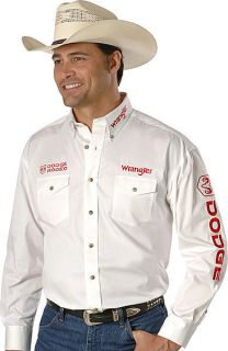 Mens Dodge Rodeo Logo Shirt 2X Tall Ed White Red Embroidery
